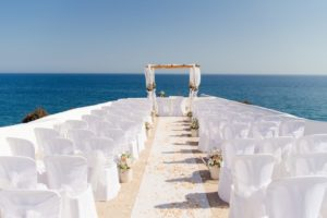 lady of the rock wedding
