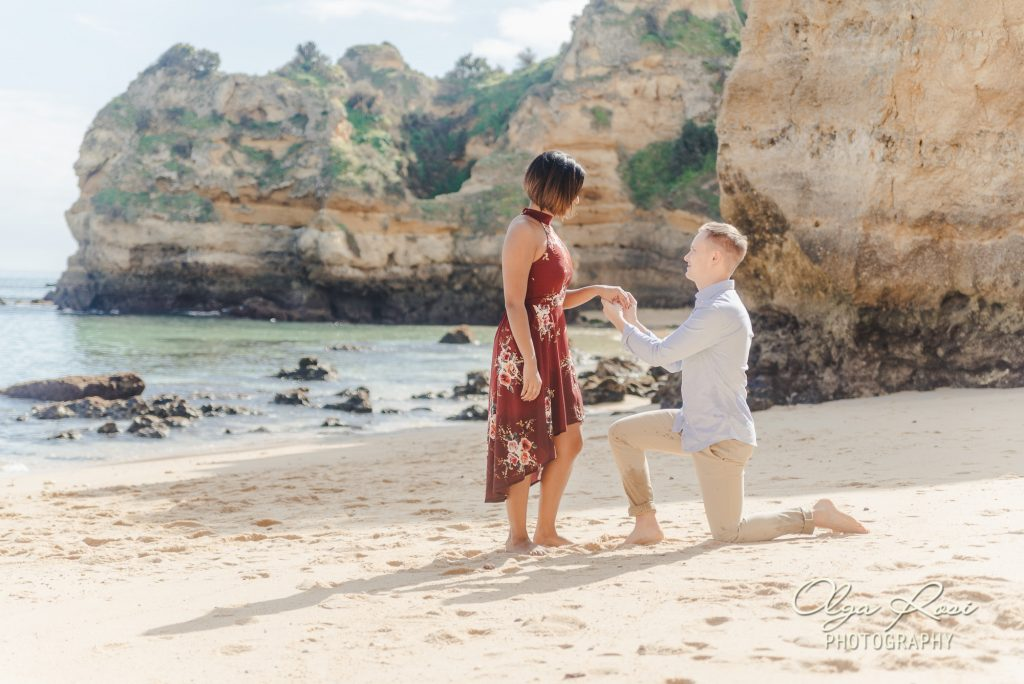 Algarve secret proposal photographer