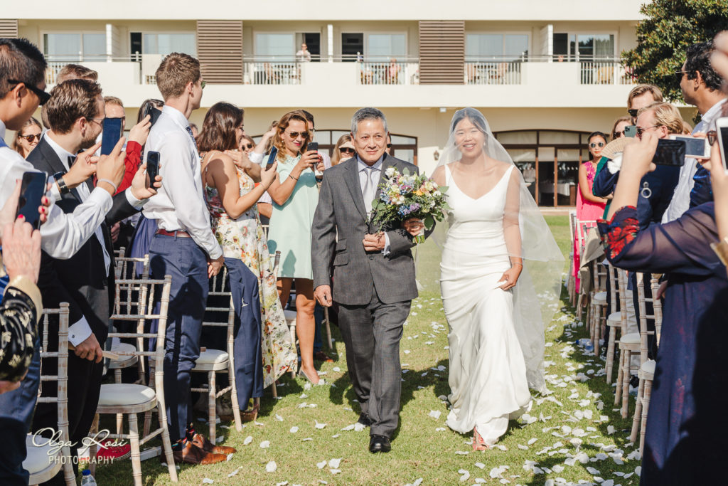 Pestana Alvor Praia wedding ceremony with ocean view - Algarve photographer Olga Rosi