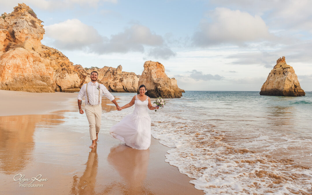 Algarve beach wedding on Alvor beach